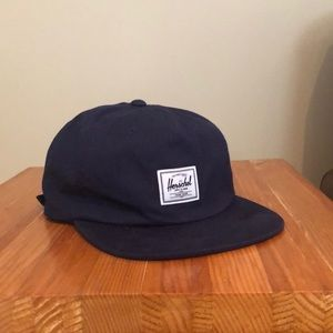 HERSCHEL blue flat brimmed hat